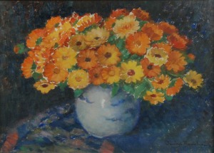 Janina NOWOTNOWA (1883-1963), Kwiaty w wazonie