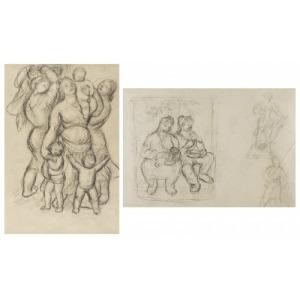 Janina SUSSLE-MUSZKIETOWA (1903-1956), Kobiety z dziećmi