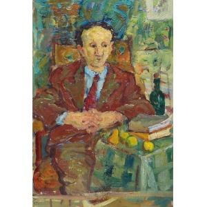 Janina SUSSLE-MUSZKIETOWA (1903-1956), Portret kolegi E. G. - szkic, 1950