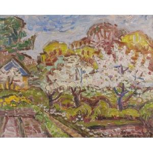 Romana LIPEŻ (1917-2003), Krajobraz z chatą