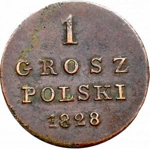 Królestwo Polskie, Mikołaj I, 1 grosz 1828 F.H.
