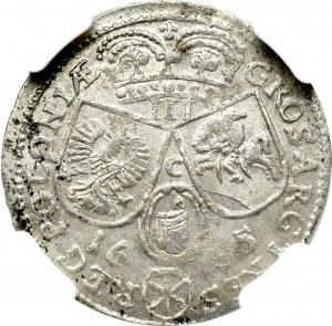 John III Sobieski, 3 groschen 1685, Cracow - NGC MS61