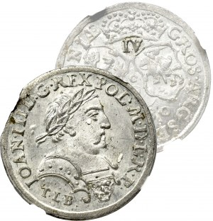 John III Sobieski, 6 groschen 1680, Cracow - IV NGC MS65+