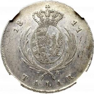 Księstwo Warszawskie, Fryderyk August I, Talar 1811 IB - NGC XF