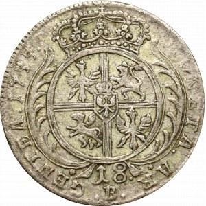 Pruskie naśladownictwo monety Augusta III, Ort 1755 B, Wrocław
