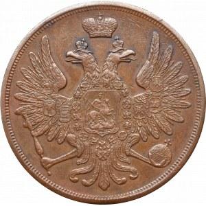 Zabór rosyjski, Aleksander II, 3 kopiejki 1858 BM, Warszawa