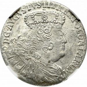 August III Sas, Ort 1755 EC, efraimek - NGC MS64
