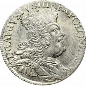 August III Sas, Ort 1756 EC, efraimek - PCGS MS63