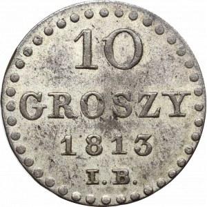 Księstwo Warszawskie, 10 groszy 1813 IB, Warszawa