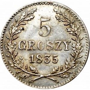 Wolne Miasto Kraków, 5 groszy 1835