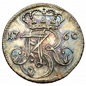 August III Sas, Trojak 1760 Gdańsk - CZYSTE SREBRO