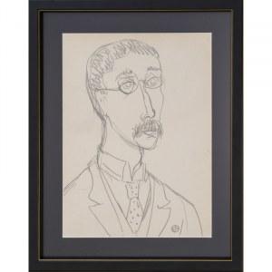 Gabriel Zendel, Bez tytułu (Portret mężczyzny)