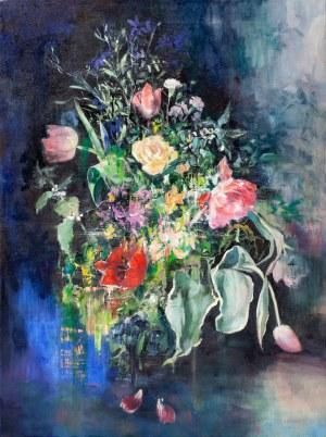 Jagoda Kaczmarczyk-Hudzik, Bukiet kwiatów z jasnotą, 2019