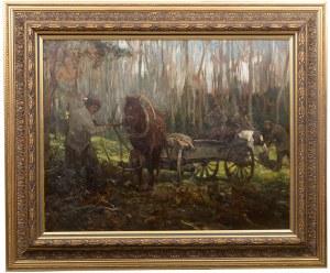 Alfred Wierusz-Kowalski (1849 Suwałki - 1915 Monachium), Praca w lesie, ok. 1905 r.