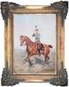 Tadeusz Ajdukiewicz (1852 Wieliczka - 1916 Kraków), Konny portret ceszarza Franciszka Józefa I