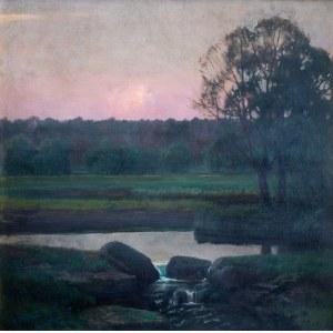Stefan Popowski (1870 Warszawa – 1937 tamże), Zachód słońca