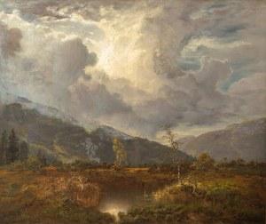Désiré Thomassin (1858 Wiedeń - 1933 Monachium), Krajobraz przed burzą, 1913 r.