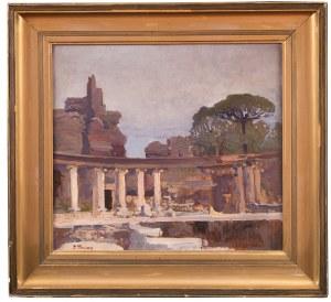 Iwan Trusz (1869 Wysocko - 1940 Lwów), Ruiny Tivoli spod Rzymu (Willa Hadriana), przed 1904 r.