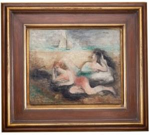 Alicja Halicka ( Kraków 1894 - Paryż 1975), Para leżąca na plaży, l. 30. XX w.