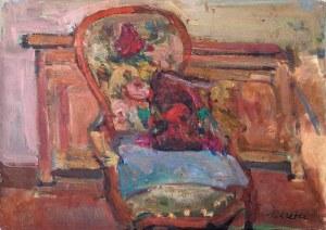 Zygmunt Schreter (1886 Łódź - 1977 Francja), Kwiaty na krześle