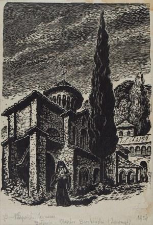 Maria HISZPAŃSKA-NEUMANN (1917-1980), Bułgaria - Klasztor Baczkowski, 1954