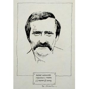 Jacek Fedorowicz - Portret nieznanego mężczyzny z wąsem (II połowa XX wieku)