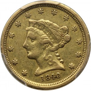 USA, 2 1/2 Dollars 1840 O, New Orlean