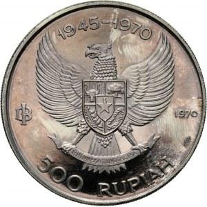 Indonesia, 500 Rupiah 1970, Wayang dancer