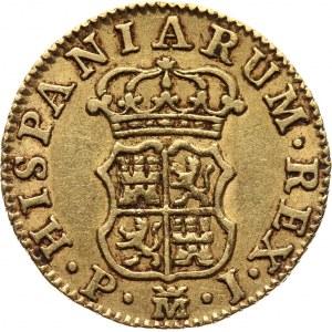 Spain, Charles III, 1/2 Escudo 1769 PJ, Madrid