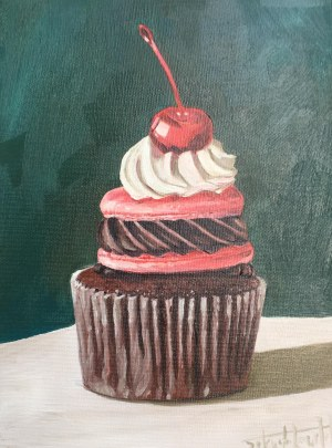 Szymon Kurpiewski, Every day painting Cupcake #5