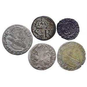 Zygmunt III Waza, zestaw 5 monet