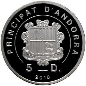 Andora, 5 dinarów 2010 Niedźwiedź