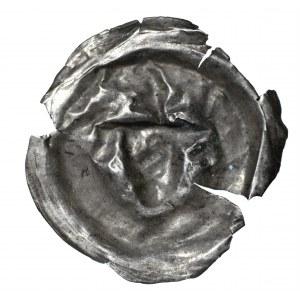 Brakteat, II połowa XII wieku, naśladownictwo głowa wołu