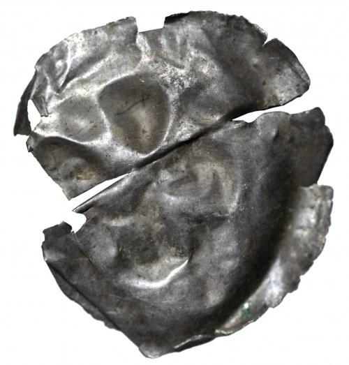 Brakteat, II połowa XII wieku, zbarbaryzowana postać