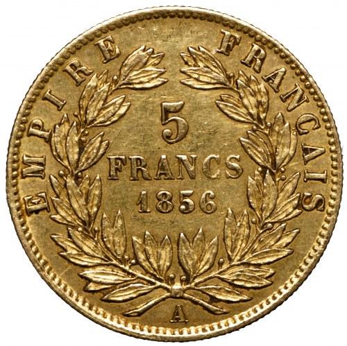 Francja, Napoleon III, 5 franków 1856 A
