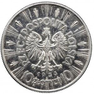 II Rzeczpospolita, 10 złotych 1936, Piłsudski