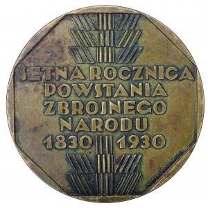 II Rzeczpospolita medal na setną rocznicę Powstania Listopadowego 1930