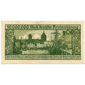 Wolne Miasto Gdańsk 10 milionów marek 1923 seria A