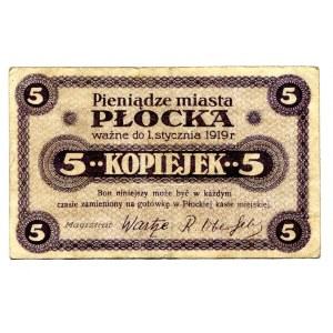 Płock 5 kopiejek 1919 okupacja niemiecka