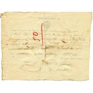 Królestwo Polskie dokument przekazu pieniężnego na 40 rubli srebrem 1856