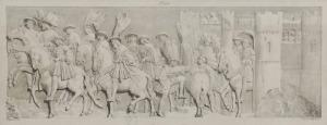 Gottfried ENGELMANN (1788-1839) - według, Wjazd Franciszka I i Henryka VIII [Entrevue de Francois 1er et de Henry VIII]