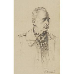 W. MACHOWSKI, XX w., Portret generała broni Kazimierza Sosnkowskiego