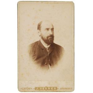 Jakub HENNER (1862-1928), Portret mężczyzny z patriotyczną zapinką, ok. 1890