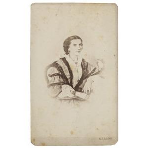 Karol Ferdynand LANG (1811-1906), Portret damy,  ok.1860