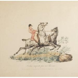Carle VERNET  (1758- 1836) - według, Dżokej prowadzący luzaka, ok. 1795