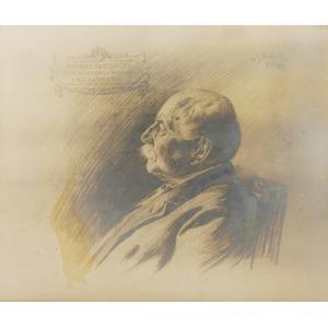 Ignacy WRÓBLEWSKI (1858 - 1953), Portret Feliksa Hr. Czackiego, syna Wiktora i Pelagii z XX. Sapiehów, 1909 r.,