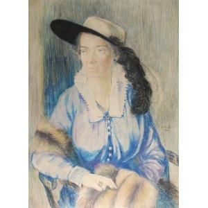 Zofia PLEWIŃSKA-SMIDOWICZOWA (1888-1944), Portret kobiety, 1916