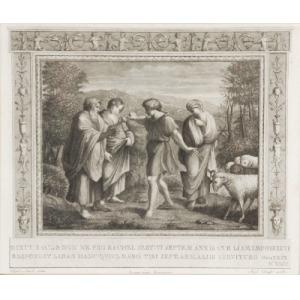 Aloysio CUNEGO ? (1757-1823) wg Raffaello SAN, Przymierze między Jakubem