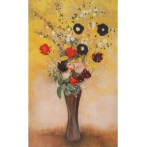 Odilon REDON (1840-1916) - według, Waza z kwiatami