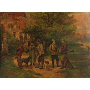 Artysta nieokreślony (XIX/XX w.), Przed polowaniem
